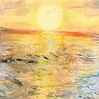 Santa Cruz at Sunset by Amy-Elyse Neer