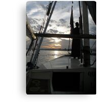 Sunset on the Nile Canvas Print