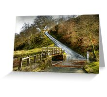 Footbridge Beside the Road to Westerdale Greeting Card