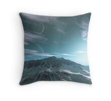 The Mountains of Sirius Beta Throw Pillow