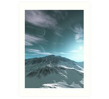 The Mountains of Sirius Beta Art Print