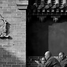 monks tete-a-tete-a-tete by geof