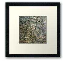 Cloudy Sky Over A Lake in Winter Margaret Juul Framed Print