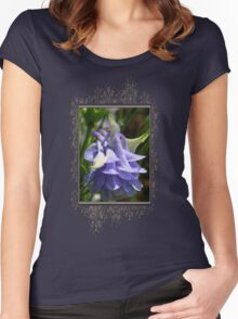 Double Columbine named Blue Women's Fitted Scoop T-Shirt