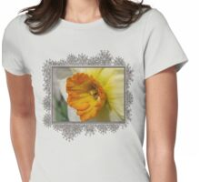 Small-Cupped Daffodil named Barrett Browning Womens Fitted T-Shirt