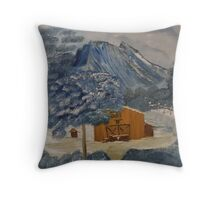 Old Bar B Ranch hand shack up in the mountains Throw Pillow