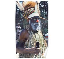 Old & New, Goroka, Papua New Guinea  Poster
