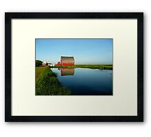 Reflections on the Pond!!! Framed Print