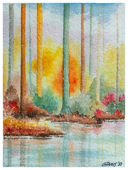 AUTUMN IN PASTEL COLORS - WATERCOLOR by RainbowArt