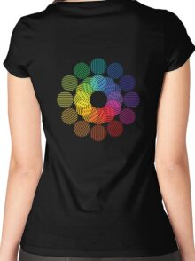 two tone colour wheel Women's Fitted Scoop T-Shirt