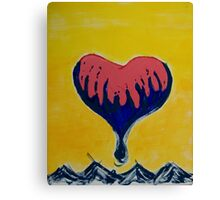 Heart Above the Clouds Canvas Print