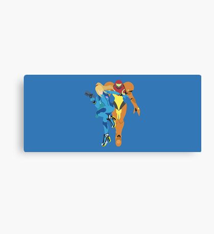Samus Aran (Light Blue) - Super Smash Bros. Canvas Print