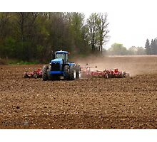 Cultivating the Soil in May Photographic Print