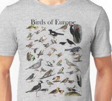 Birds of Europe Unisex T-Shirt