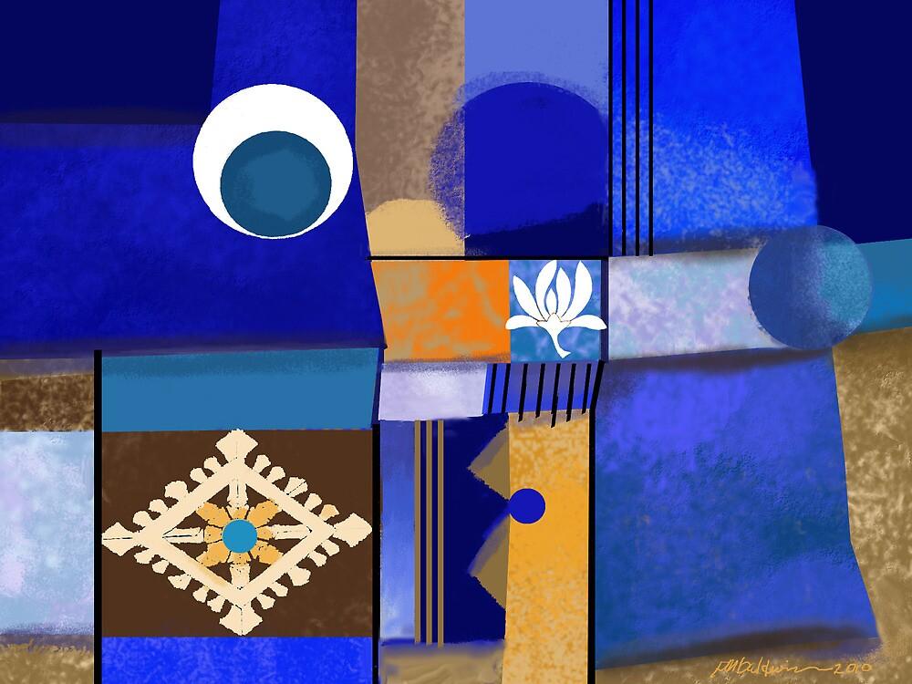 """Blue Circles"" by Patrice Baldwin"