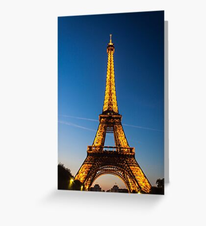 Eiffel Tower and sunset Greeting Card
