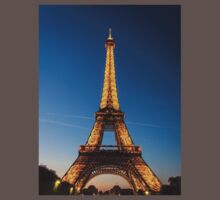 Eiffel Tower and sunset Baby Tee