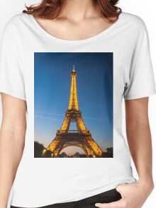 Eiffel Tower and sunset Women's Relaxed Fit T-Shirt