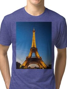 Eiffel Tower and sunset Tri-blend T-Shirt