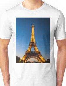 Eiffel Tower and sunset Unisex T-Shirt