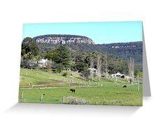 Farming near Ilford, N.S.W. Australia Greeting Card