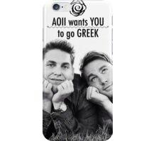 AOII Wants You To Go Greek iPhone Case/Skin