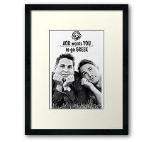AOII Wants You To Go Greek Framed Print