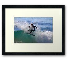 Surfing Culburra Framed Print