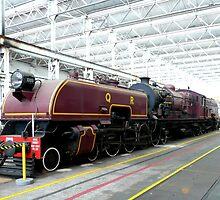 Beyer-Garratt engine by Margaret  Hyde