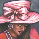 Pink Satin Hat by Alga Washington