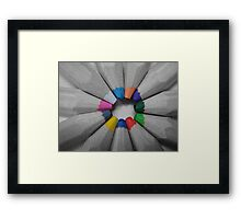 What a colourful world Framed Print