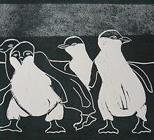 Penguin Parade by Frances Henke