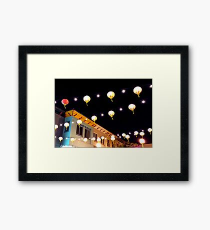 Lights Above Chinatown Framed Print