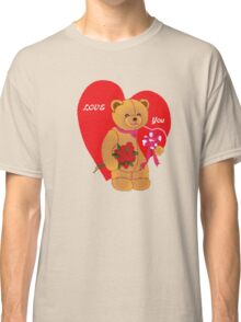Love You,Valentine Teddy..tee Classic T-Shirt