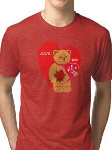 Love You,Valentine Teddy..tee Tri-blend T-Shirt