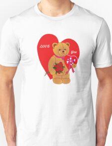 Love You,Valentine Teddy..tee Unisex T-Shirt