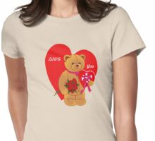 Love You,Valentine Teddy..tee Womens Fitted T-Shirt