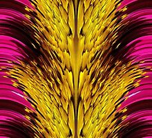 Fuchsia Sensation Abstract by JMcCombie