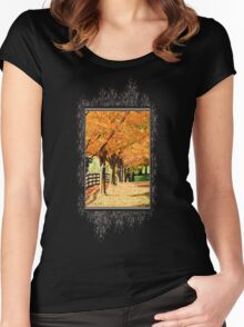 Fall Foliage Women's Fitted Scoop T-Shirt