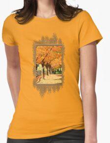 Fall Foliage Womens Fitted T-Shirt