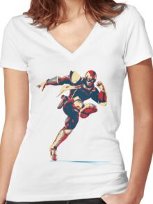 Captain Falcon Women's Fitted V-Neck T-Shirt