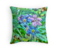Happy Belated Birthday to Annabella Throw Pillow