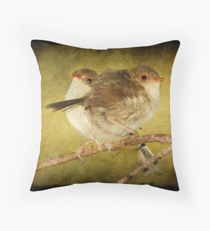 Baby Fairy Wrens #2 Throw Pillow