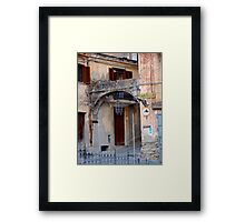 Entering Old Amantea Framed Print
