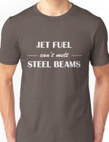 jet fuel cant melt steel beams (white) Unisex T-Shirt