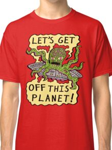 Alien UFO Escape Classic T-Shirt