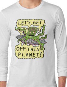 Alien UFO Escape Long Sleeve T-Shirt