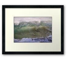 Wave Break#1 Framed Print