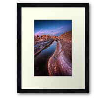 Channeling Sunset Framed Print