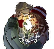 Ashley + Chris - You're My Flashlight by hansideburns